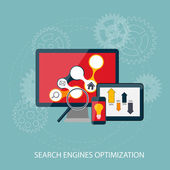 Search Engines Optimization Concept — Wektor stockowy