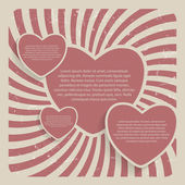 Abstract Hearts — Stock Vector