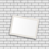 Frame on Brick Wall for Your Text and Images — Stock Vector