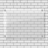Frame on Brick Wall for Your Text and Images, Vector Illustration. — Stock Vector
