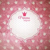 Princess Crown  Background Vector Illustration. — Stock Vector