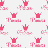 Princess Crown Seamless Pattern  Background Vector Illustration. — Stock Vector