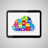 Cloud computing begreppet vektor illustration — Stockvektor