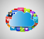 Cloud Computing Concept Vector Illustration — Stock Vector