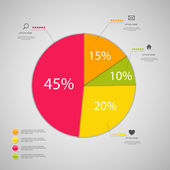 Plantilla de negocio de infografía — Vector de stock