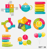 Collection of Infographic  for Business — Stock Vector