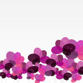 Abstract background with Flowers. Vector Illustration — Stockvektor