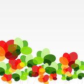 Abstracte achtergrond met bloemen. vectorillustratie — Stockvector