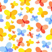 Butterfly Seamless Pattern Background Vector Illustration — Stock Vector