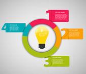 Infographic mallar för företag — Stockvektor