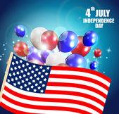 Bağımsızlık günü afişi — Stok Vektör