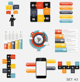 Collection of Infographic Templates for Business — Stok Vektör