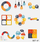 Collection of Infographic Templates for Business — Stock Vector