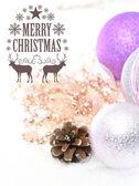 Elegante cartão de plano de fundo de natal clássico — Fotografia Stock