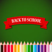 Back to School Concept Vector Illustration — Stockvector