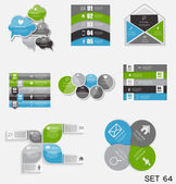 Collection of Infographic Templates for Business Vector Illustra — Stockvektor