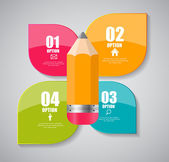 Infographic Templates for Business Vector Illustration. — ストックベクタ