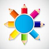 Terug naar school concept vectorillustratie — Stockvector