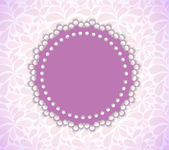 Romantic Flower Frame Vector Background — Stockvektor