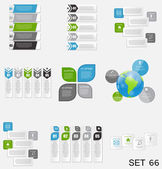 Collection of Infographic Templates for Business Vector Illustration. eps10 — Stock Vector