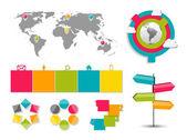 商业矢量怡乐思的图表模板集合 — 图库矢量图片