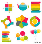 Colección de plantillas de infografía para negocios vector illustra — Vector de stock