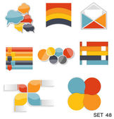 Collection of Infographic Templates for Business Vector Illustra — Stock Vector