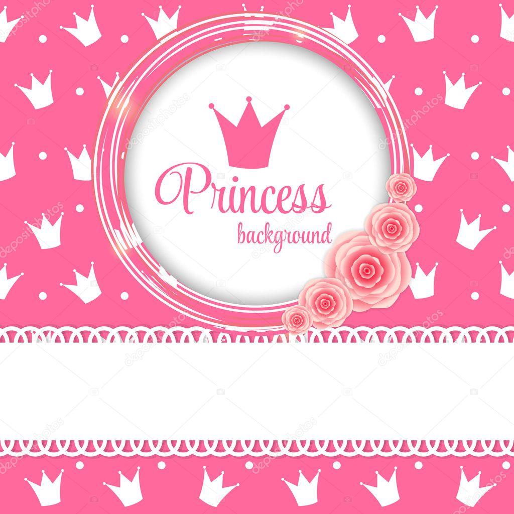 Ilustra o em vetor fundo coroa princesa vetor de stock - Couronne princesse disney ...