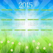 Vektor illustration. 2015 nyår kalender — Stockvektor
