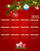 Vector Illustration. 2015 New Year Calendar — Stock Vector