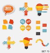 Collection of Infographic Templates for Business Vector Illustra — Vecteur
