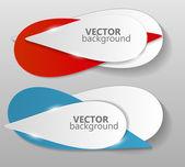 Collection d'origami bannières modèle vector illustration — Vecteur