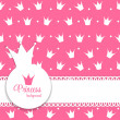 Princess Crown Background — Stock Vector #49546113