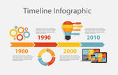 Timeline Infographic Template for Business — Stock Vector