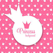 Princess Crown Background — Stock Vector