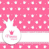 Princess Crown Background — 图库矢量图片