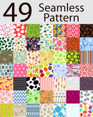 49 Seamless Pattern Set — Stock Vector