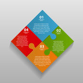 Infographic Templates for Business — Vettoriale Stock