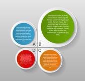 Infographic şablonları iş için — Stok Vektör