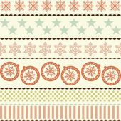 Christmas New Year Seamless Pattern — Stock Vector