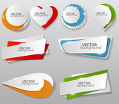 Collection of Origami Banners Template — Stockvektor