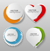 Collection of Origami Banners Template Vector Illustration — Stock vektor