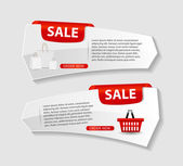Sale Banner with Place for your Text. Vector Illustration — Stock Vector
