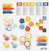 Koleksiyon Infographic şablonlar için iş vektör illustra — Stok Vektör