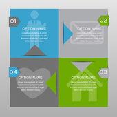 Infographic šablony pro podnikání vektorové ilustrace. — Stock vektor