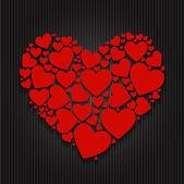 Día de san valentín papel corazón backgroung, ilustración vectorial — Vector de stock