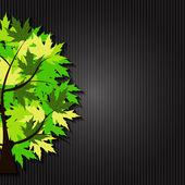 Abstract Vector Spring Tree Illustration — Stock Vector