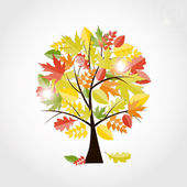 Shiny Autumn Natural Tree Background. Vector Illustration — Stock Vector