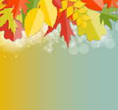 Shiny Autumn Natural Leaves Background. Vector Illustration — Stock Vector