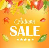 Autumn Sale Concept Vector Illustration — Stock Vector